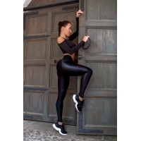 Leggings Bona Fide: Leggins Correct Strip Skin Edition 'Black'