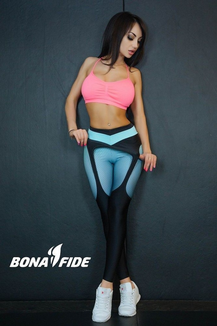 Leggings Bona Fide: Christina Aguilera 'Black & Mint'