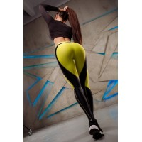 Leggings Bona Fide: My Heart Will Go On 'Total Black & Lime'